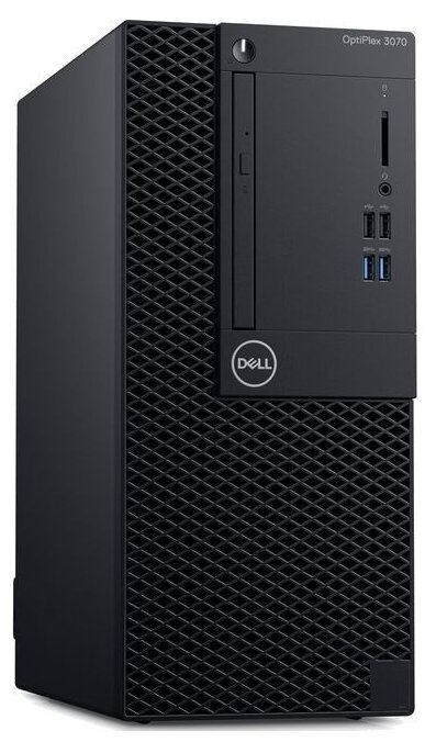 Настольный компьютер DELL Optiplex 3070 MT (3070-4661) Mini-Tower/Intel Core i3-9100/8 ГБ/256 ГБ SSD/Intel UHD Graphics 630/Windows 10 Pro