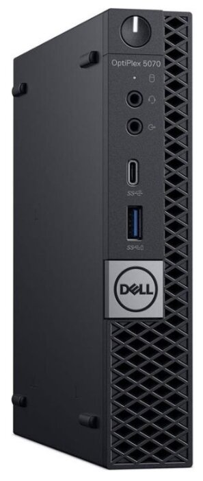 Настольный компьютер DELL Optiplex 5070 Micro (5070-4838) Micro-Tower/Intel Core i5-9500T/8 ГБ/256 ГБ SSD/Intel UHD Graphics 630/Windows 10 Pro