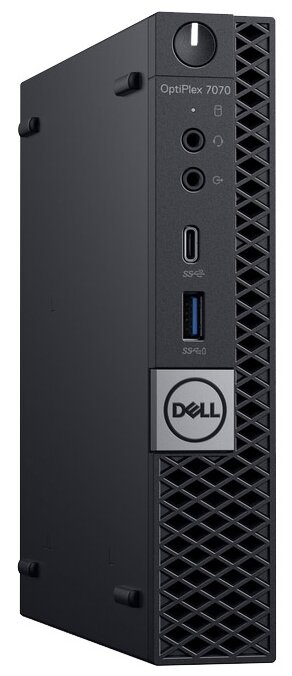 Настольный компьютер DELL Optiplex 7070 Micro (7070-6800) Micro-Tower/Intel Core i7-9700/8 ГБ/256 ГБ SSD/Intel UHD Graphics 630/Windows 10 Pro