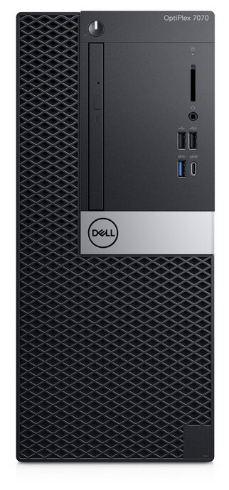 Настольный компьютер DELL Optiplex 7070 MT (7070-6749) Mini-Tower/Intel Core i7-9700/8 ГБ/16 ГБ SSD+1 ТБ HDD/AMD Radeon RX 550/Windows 10 Pro