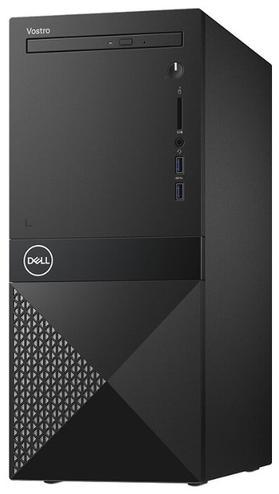 Настольный компьютер DELL Vostro 3671 MT (3671-2677) Mini-Tower/Intel Core i7-9700/8 ГБ/256 ГБ SSD+1 ТБ HDD/NVIDIA GeForce GTX 1650/Windows 10 Pro