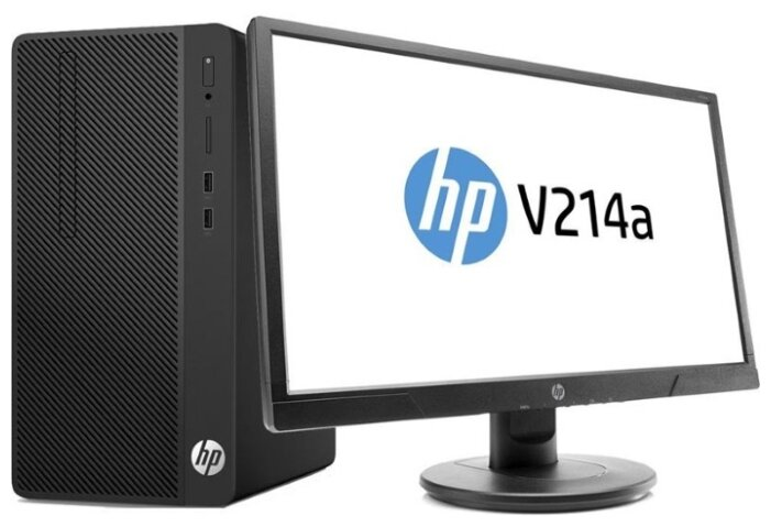 Настольный компьютер HP 290 G2 MT Bundle (4YV40EA) Micro-Tower/Intel Core i3-8100/4 ГБ/500 ГБ HDD/Intel UHD Graphics 630/Windows 10 Pro/монитор 207 дюйм
