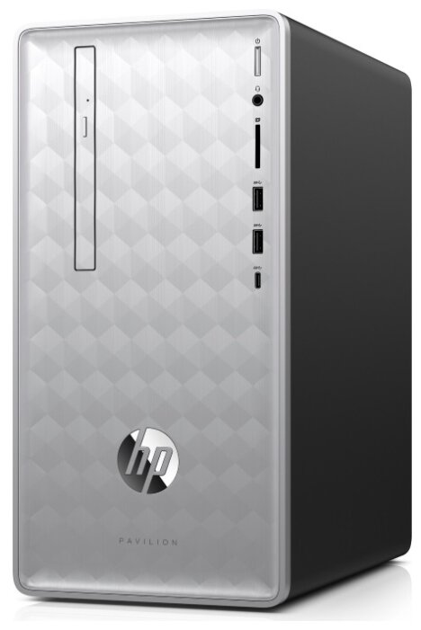 Настольный компьютер HP Pavilion 590-p0017ur (4JS26EA) Mini-Tower/AMD Ryzen 3 2200G/8 ГБ/1 ТБ HDD/AMD Radeon RX 580/Windows 10 Home