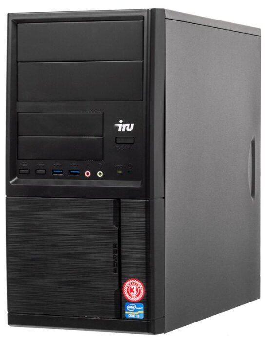 Настольный компьютер iRu Office 110 MT (1005576) Mini-Tower/Intel Celeron J3355/4 ГБ/500 ГБ HDD/Intel HD Graphics 500/DOS
