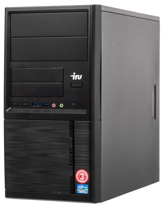 Настольный компьютер iRu Office 110 MT (1122620) Mini-Tower/Intel Celeron J3355/4 ГБ/120 ГБ SSD/Intel HD Graphics 500/Windows 10 Home