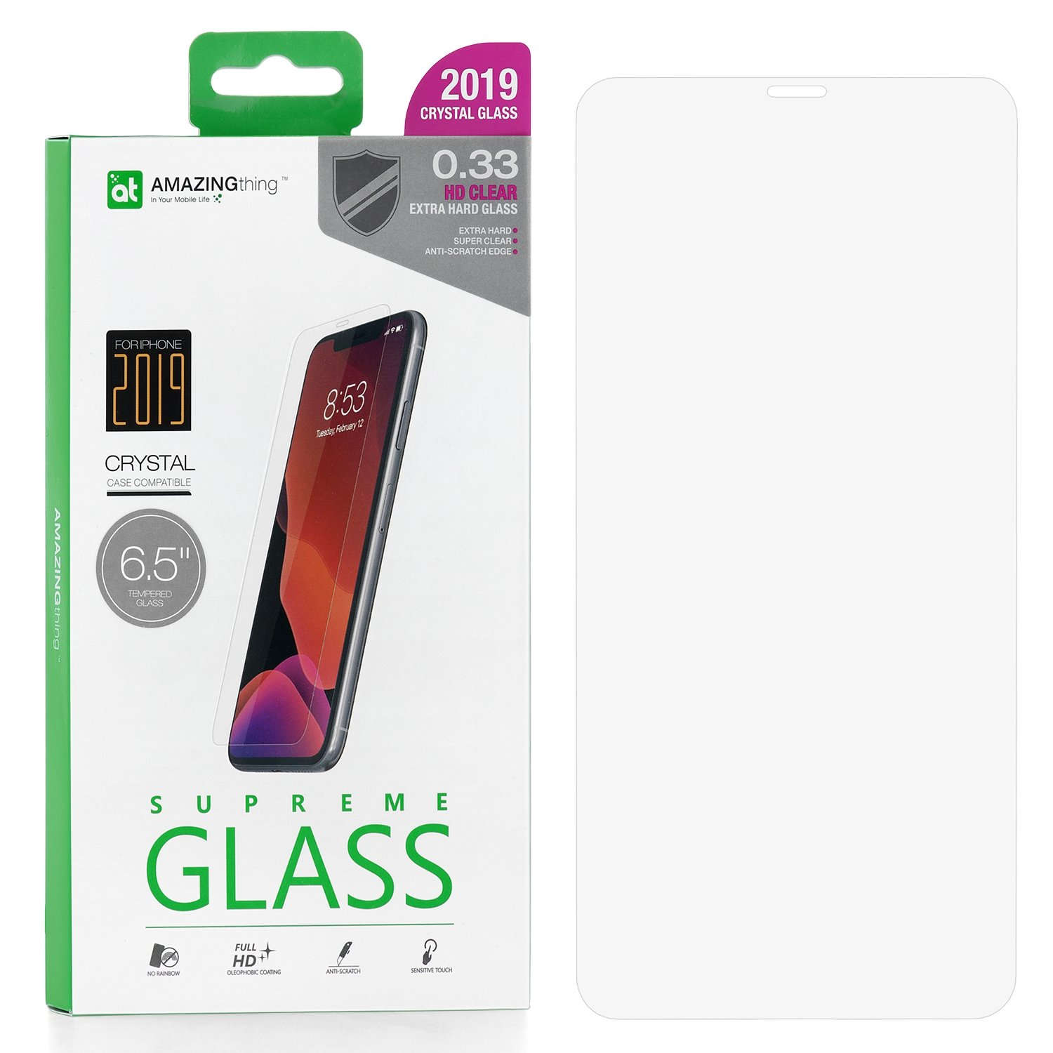 Защитное стекло AMAZINGthing Extra Hard Transparent 0.33mm для Apple iPhone XS Max