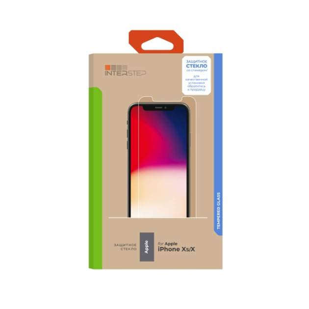 Защитное стекло InterStep для Apple iPhone X/iPhone XS (IS-TG-IPHONXSCL-UA3B202)