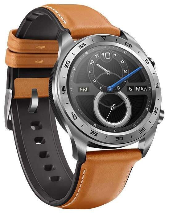 Часы HONOR Watch Magic (stainless steel leather strap)